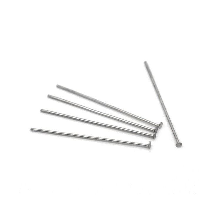 Pack of 100 Sorted Stainless Steel Head Pins 3cm