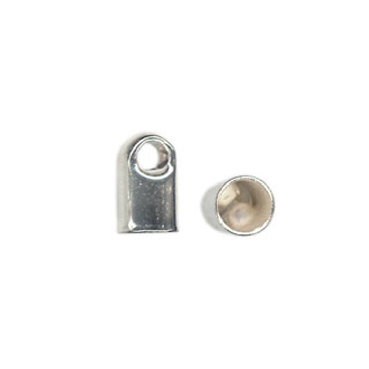 Silver Plated End Tips Fits 3mm Cord