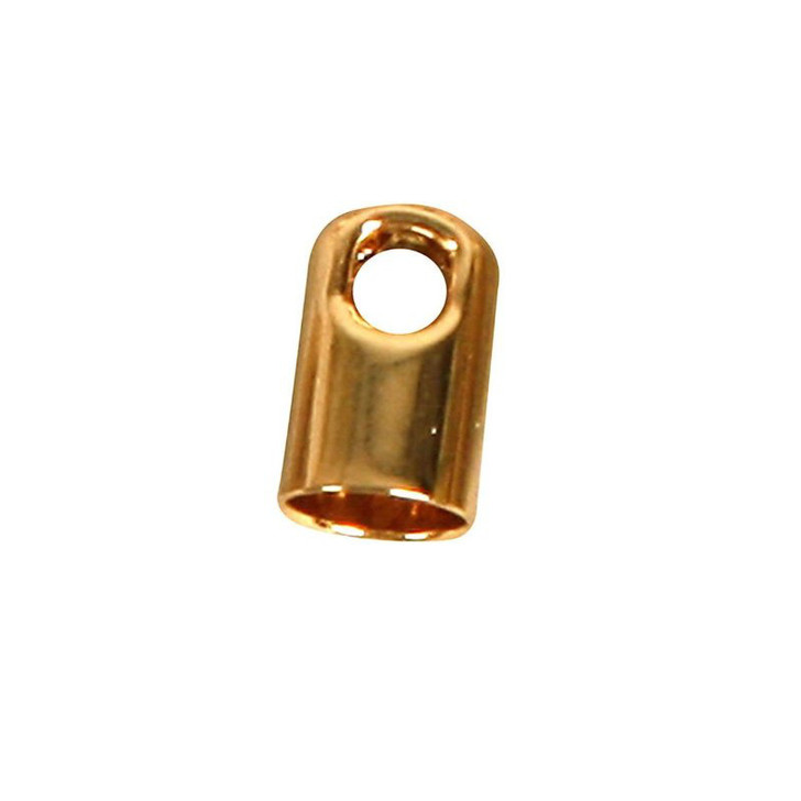 Gold Plated End Tips Fits 3mm Cord