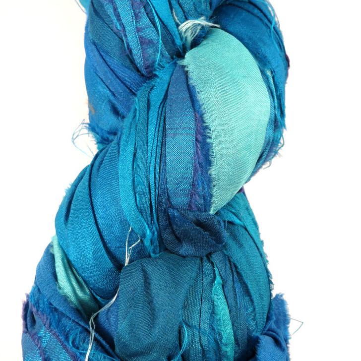 Silk Sari Ribbon Fair Trade - Sky Blue