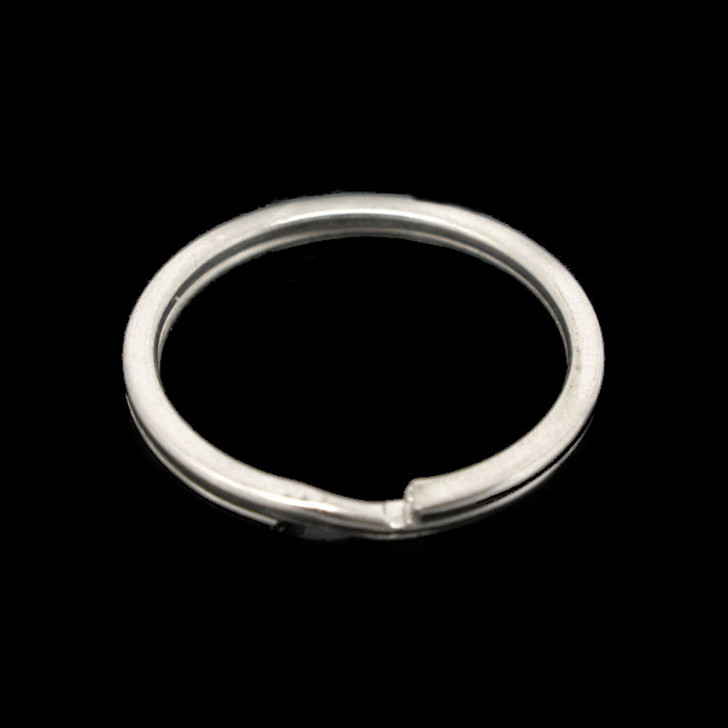 Silver Tone Round Split Key Ring 25mm