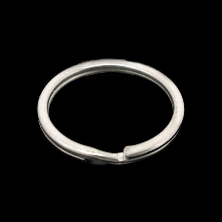 Silver Tone Round Split Key Ring 25mm