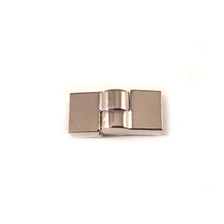 Silver Magnetic Metal End Clasp 2.5cm fits 10x2.5mm Flat cord