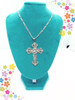 Silver cross pendant with the chain