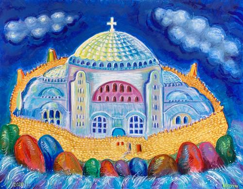 """Hagia Sophia"" Acrylic on canvas"