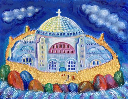 """Hagia Sophia"" Greeting Card"