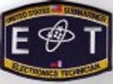 USN Submariner ET Rating Patch