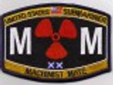 USN Submariner MM Rating Patch