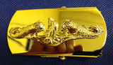 Belt Buckle, Submarine Officer, Gold Dolphins