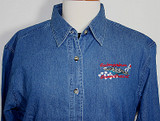 LADIES DENIM SHIRT SUBMARINER'S SWEETHEART DESIGN