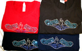 Crystal Dolphin Shirts, Crew Neck