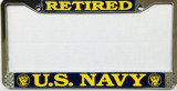 License Plate Frame, U.S. Navy Retired
