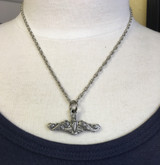 silver dolphins necklace with chain