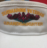 VISOR, LADIES CUSTOM , TEXT,  PLUS DOLPHINS