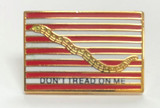 LAPEL PIN, DON'T TREAD ON ME FLAG