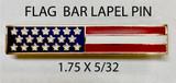 LAPEL PIN STARS & STRIPES FLAG BAR
