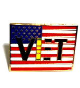 LAPEL PIN, VIET VET FLAG PIN