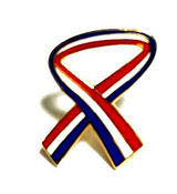 LAPEL PIN, PATRIOTIC RIBBON