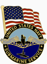 LAPEL PIN, USN SUBMARINE SERVICE