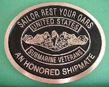 Honored Shipmate Memorial Marker & Grave Marker (CAST BRONZE)