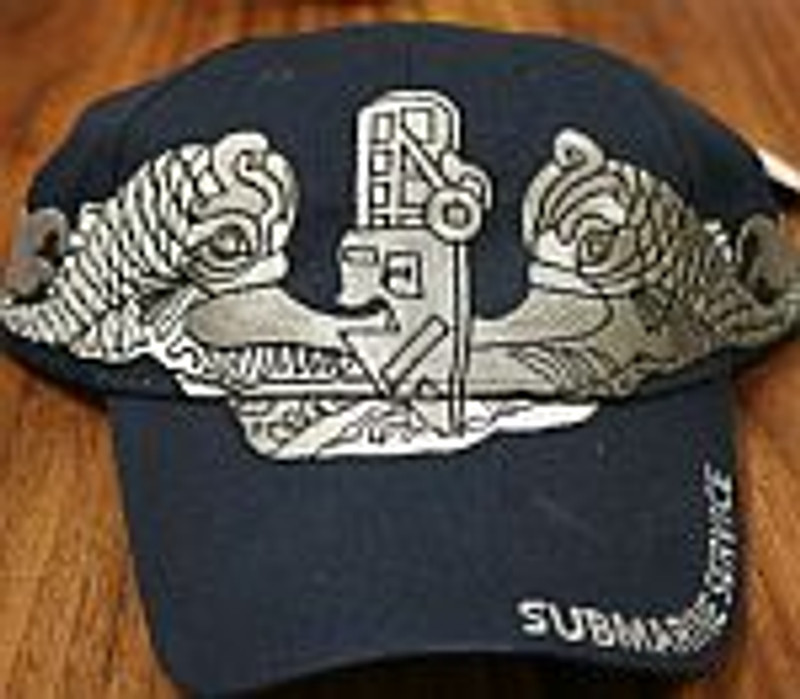 SUBMARINE VETERAN NAVY Adjustable Cap-Silver Dolphins U.S