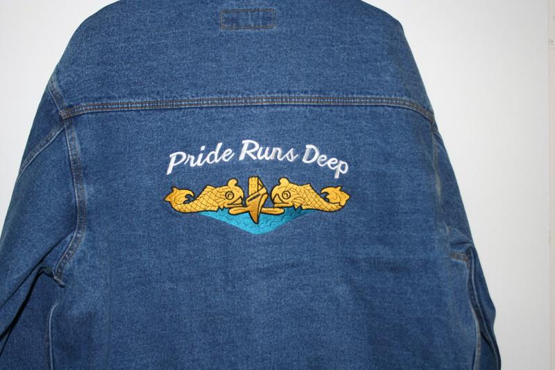 Denim Jackets, Custom Embroidery available
