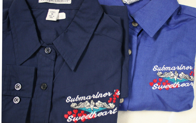 Ladies Twill Shirt-Submariner Sweetheart Bubbling Heart Design
