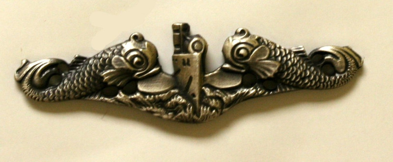 Enlisted Silver Dolphins Anodized Miniature breast pin.