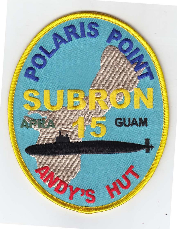 Guam Patch, Subron 15, Polaris Point,Andy's Hut. copyright gil raynor, submarinesshop.com