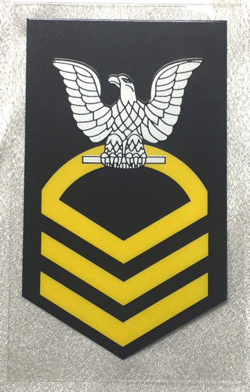 DECAL, CPO CROW, CLEAR BACKGROUND OUTSIDE WINDOW STICKING