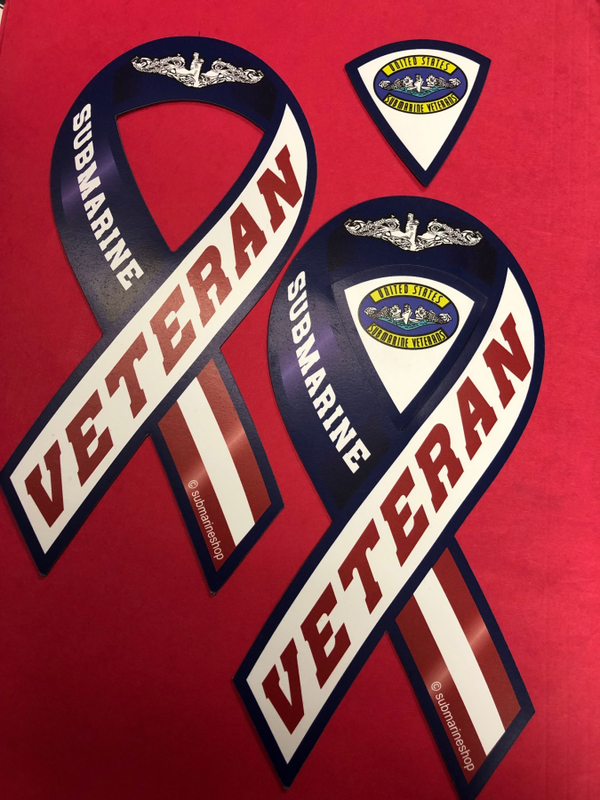 Submarine Veteran Ribbon Car magnet.