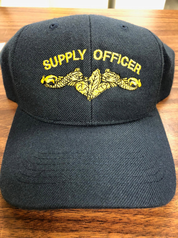 BALL CAP, SUBMARINE SUPPLY OFFICER DOLPHINS