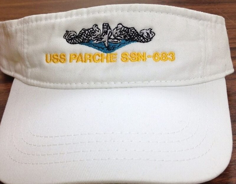 Visor, mens, custom embroidered.