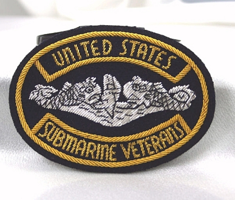 USSVI Bullion Crest for Suits,Blazers. Magnetic Clutch