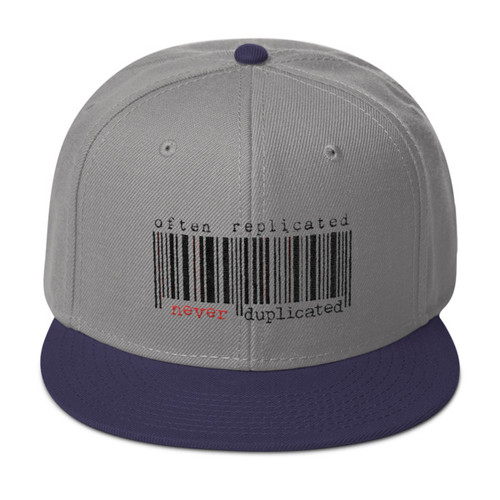 Often Replicated Never Duplicated Snapback Hat