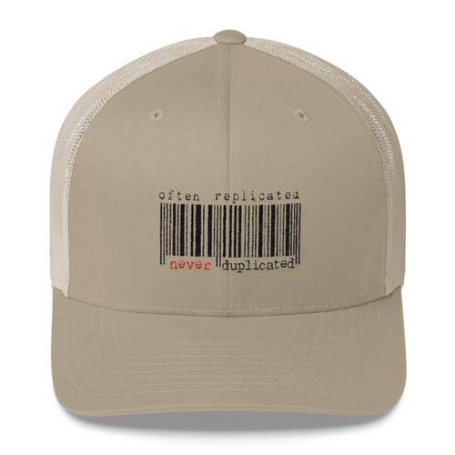 Often Replicated Never Duplicated Trucker Hat
