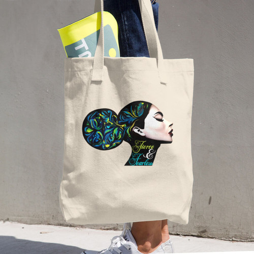Fierce & Fearless Cotton Tote Bag