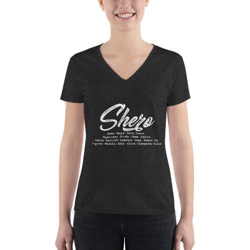 Shero Women's Fashion Deep V-Neck Tee