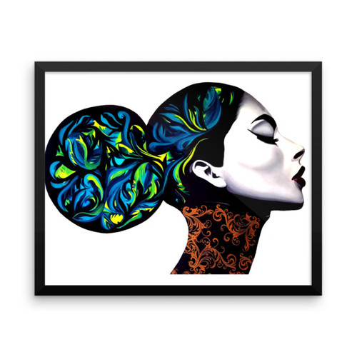 Beautiful Khaos Framed Photo Paper Poster