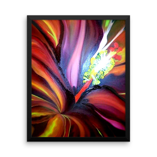 Red Hibiscus Framed Poster