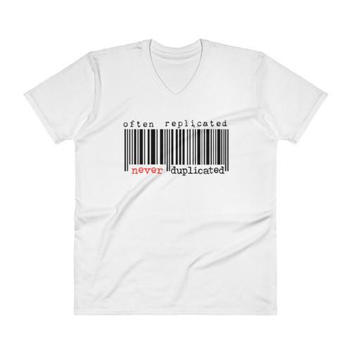 Often Replicated Never Duplicated Men's V-Neck T-Shirt