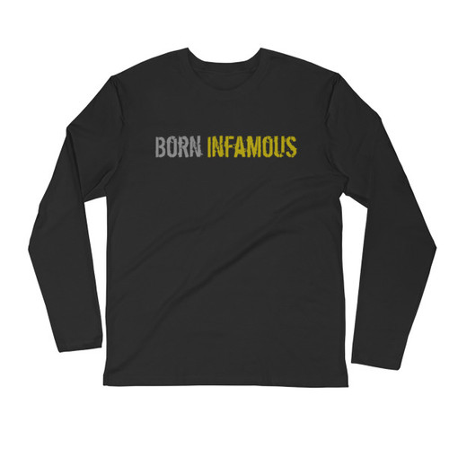 Born Infamous Men's Long Sleeve Fitted Crew