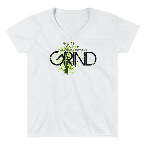 24/7 GRIND Women's Casual V-Neck Shirt