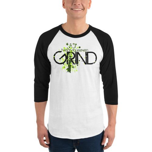 24/7 GRIND 3/4 Sleeve Raglan Unisex Shirt
