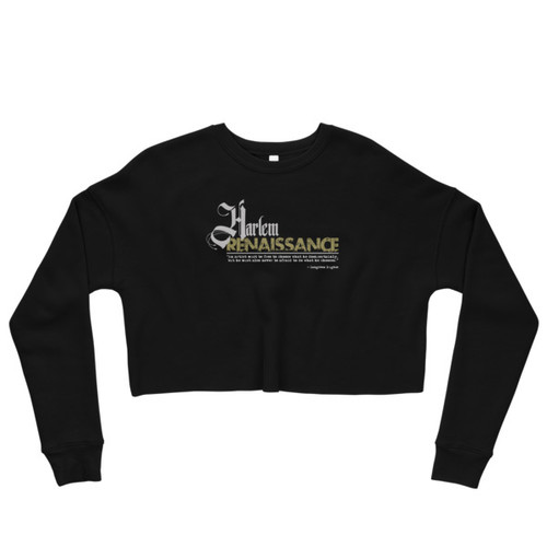 Harlem Renaissance Langston Hughes Crop Sweatshirt