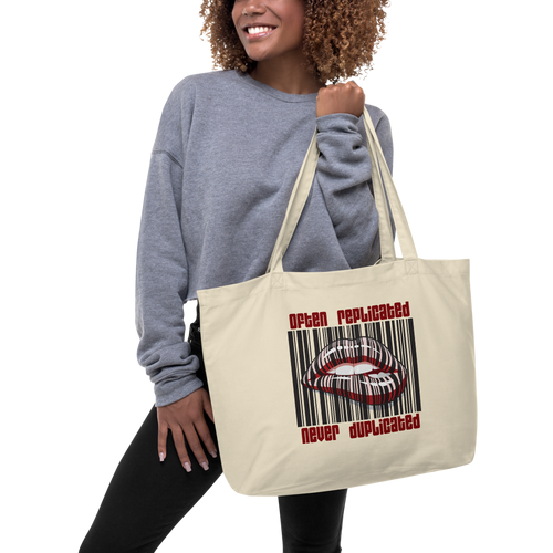 Never Duplicated 2.0 Large Organic Tote Bag