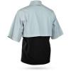 Sun Mountain Stratus Short Sleeve Pullover - Platinum / Black / Inferno