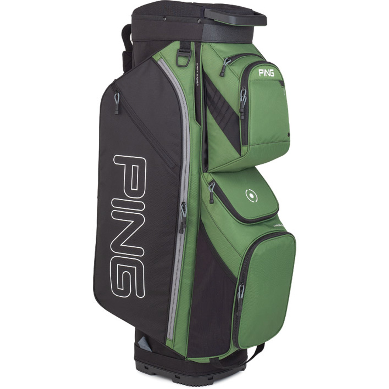 Ping Traverse Personalized Cart Bag - Olive / Black