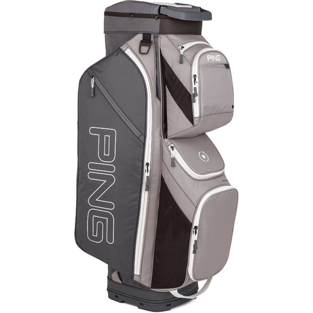 Ping Traverse Personalized Cart Bag - Silver / Grey / White