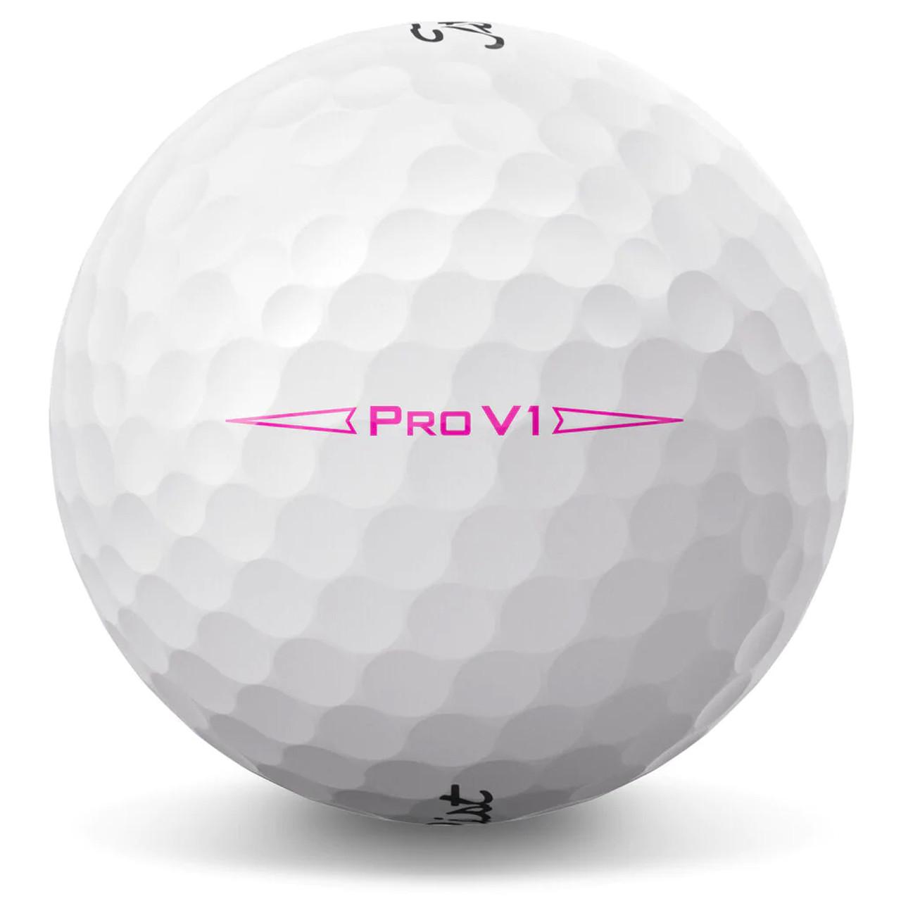 Titleist Pro V1 Pink Play Number Dozen Golf Balls